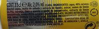 Amstel Radler - Ingredients - es