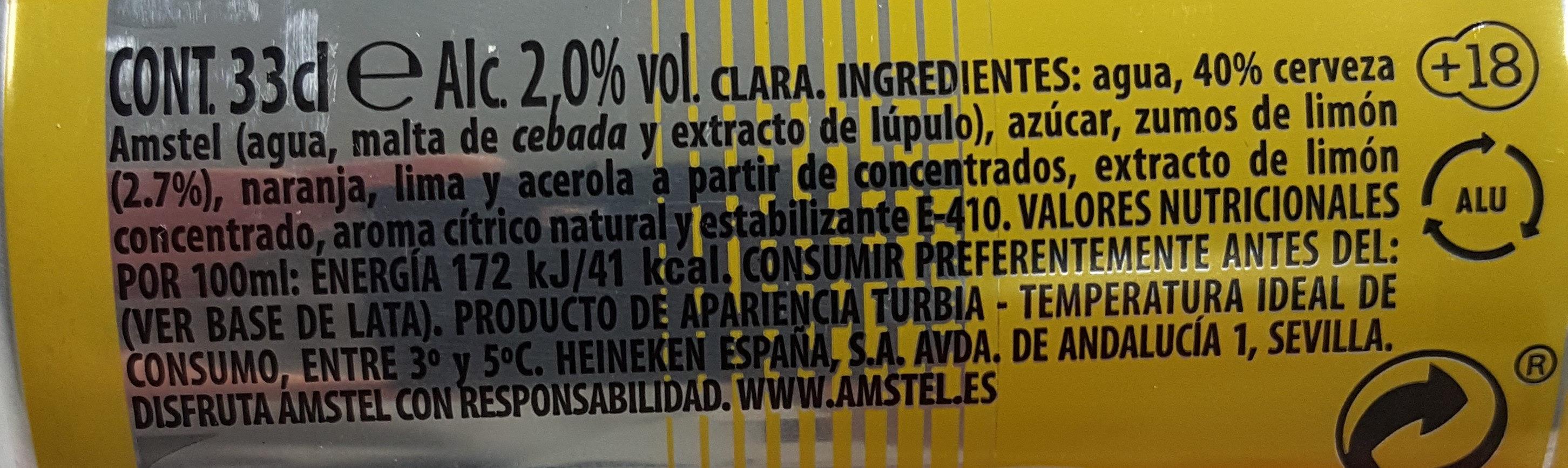 Amstel Radler - Ingredients