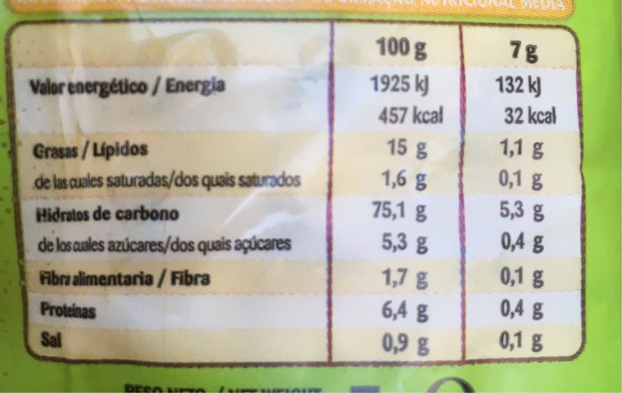Jojitos Gusanitos - Informations nutritionnelles