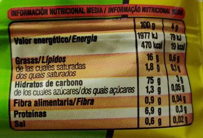 Aspitos - Información nutricional