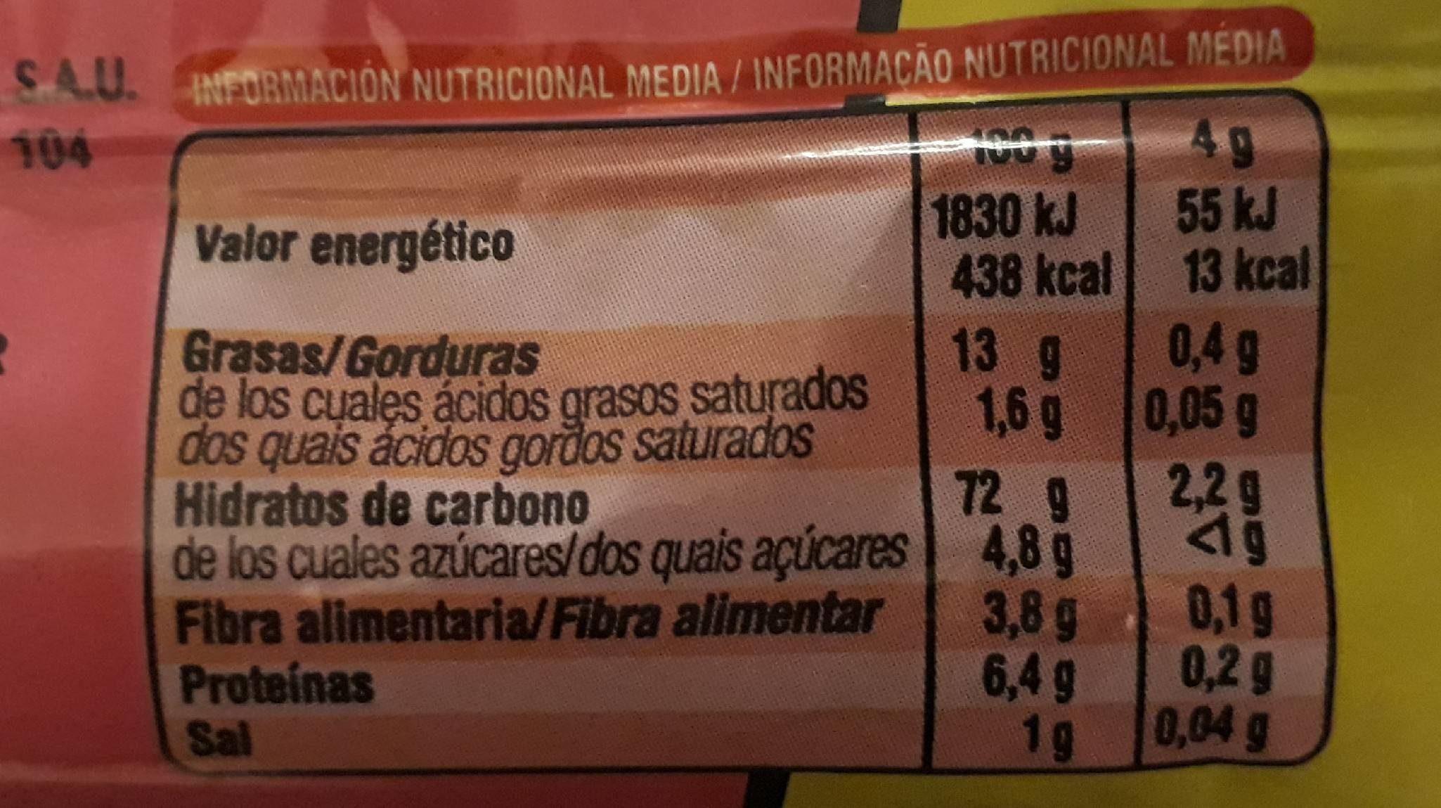 Aspitos Jamon - Informations nutritionnelles