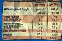 Jojitos gigante - Informació nutricional - fr