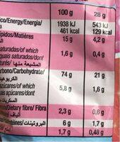 Corazones de maiz - Nutrition facts - es