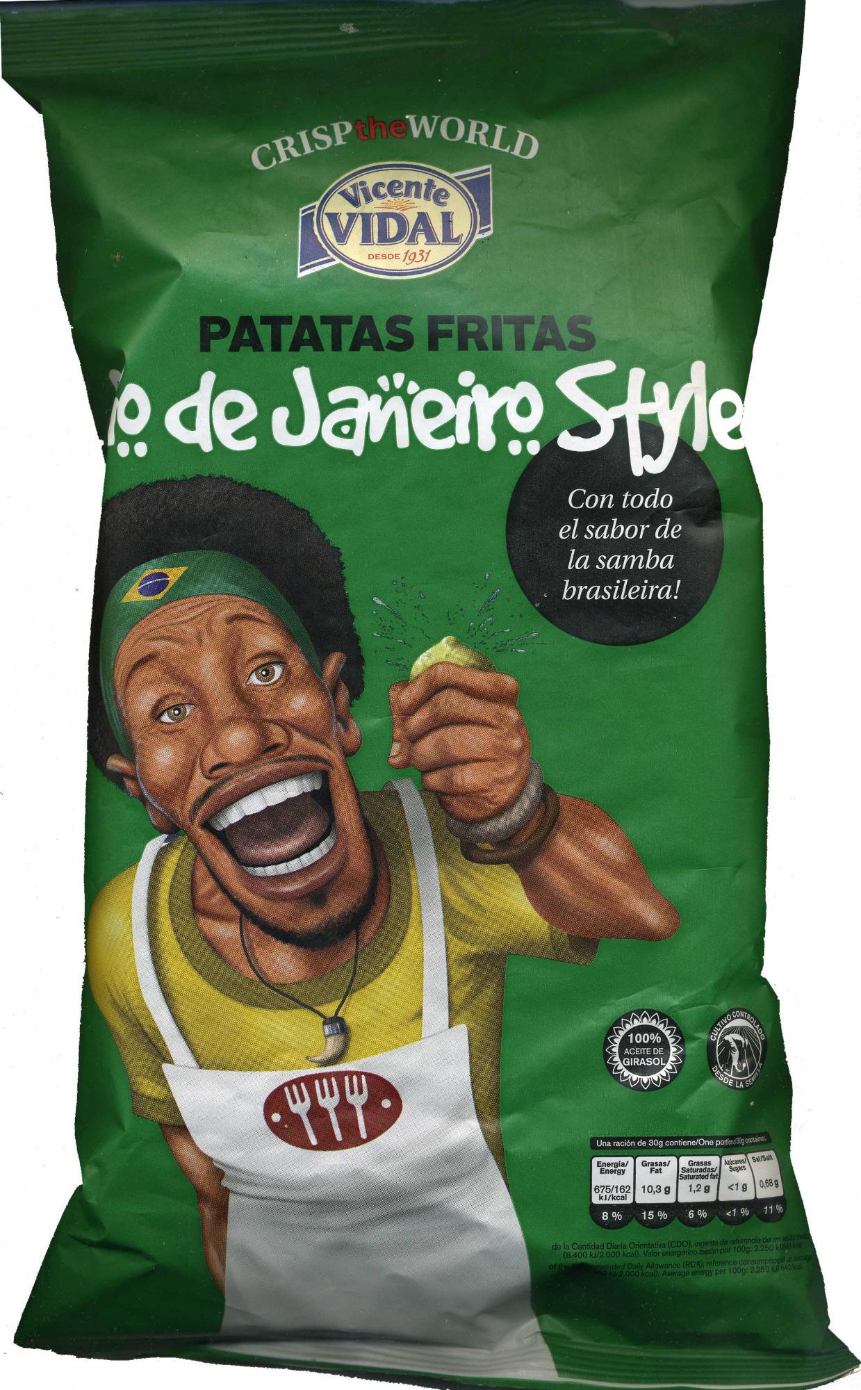 "Patatas fritas onduladas ""Vicente Vidal"" Río de Janeiro Style - Producto"