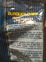 Burguer chips - Ingredients - es