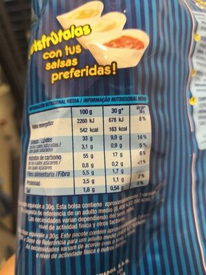Burguer chips - Nutrition facts - es