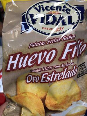 Patatas fritas sabor huevo frito - Producte - es