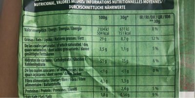 Patatas fritas sabor a receta campesina - Nutrition facts - es