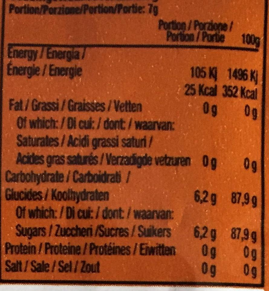 Popping Gum goût Cola - Informations nutritionnelles - fr