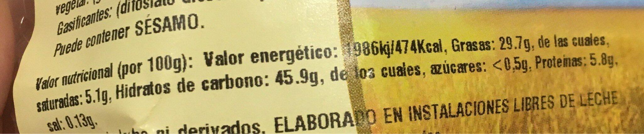 Magdalenas integrales sin azúcares añadidos - Nutrition facts - fr