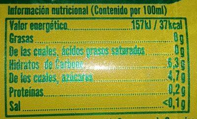 Cerveza Tropical con limón - Informació nutricional
