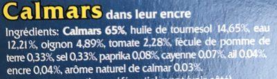 Calamars a l'encre - Ingredienti - fr
