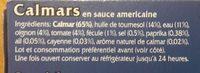 Calmars En Sauce Americane Pescamar. - Ingrédients
