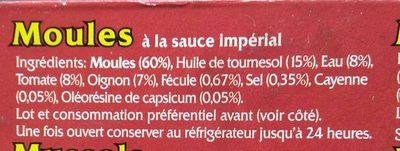 Mejillones en salsa de vieira - Ingredients - fr