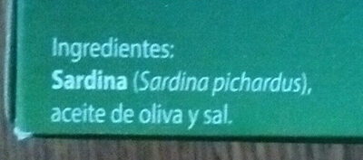 Sardinas en aceite de oliva - Ingredients - es