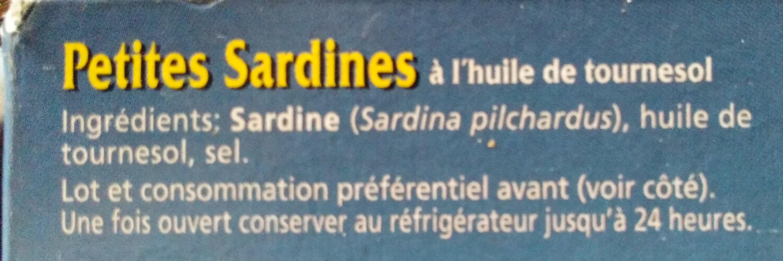 Sardinillas - Ingredients - fr