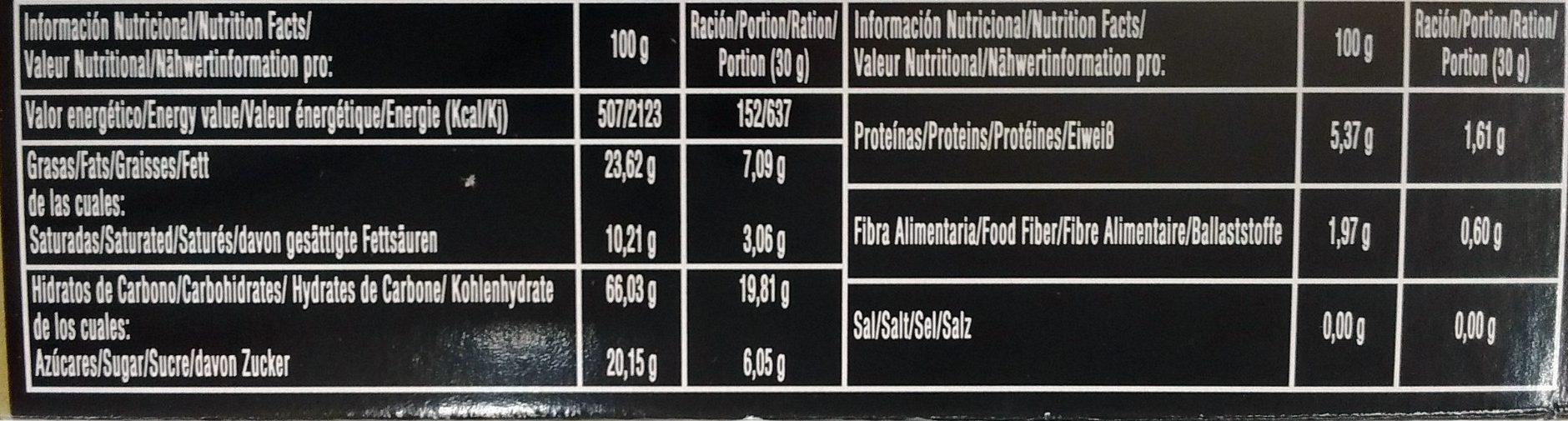 Surtido de Polvorones Dulce Tradicion - Nutrition facts - fr
