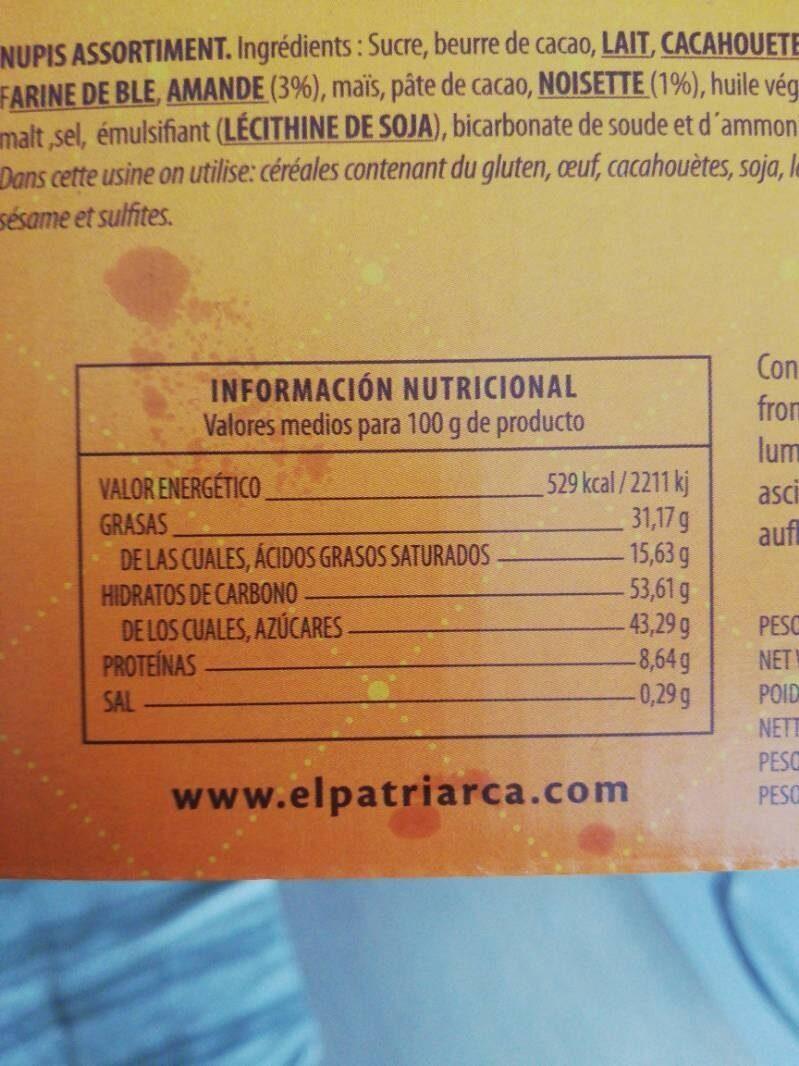 Nupis Surtidas - Nutrition facts