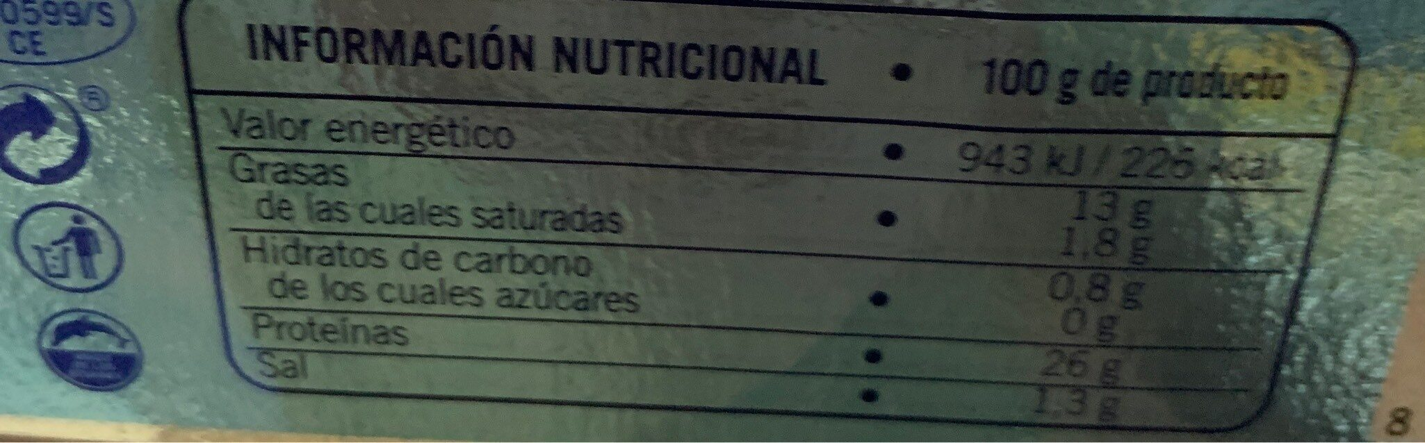 Atun claro - Nutrition facts