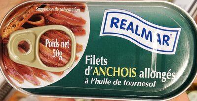 Filets d'anchois à l'huile de tournesol - Product - fr