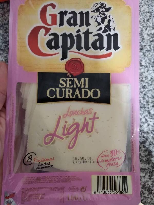 Queso semicurado light - Product - es
