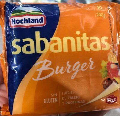 Sabanitas burger - Produit - es