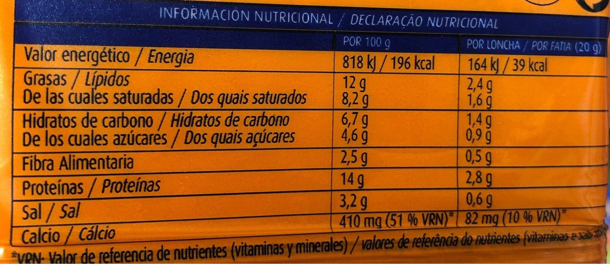 Sabanitas burger - Informations nutritionnelles - es