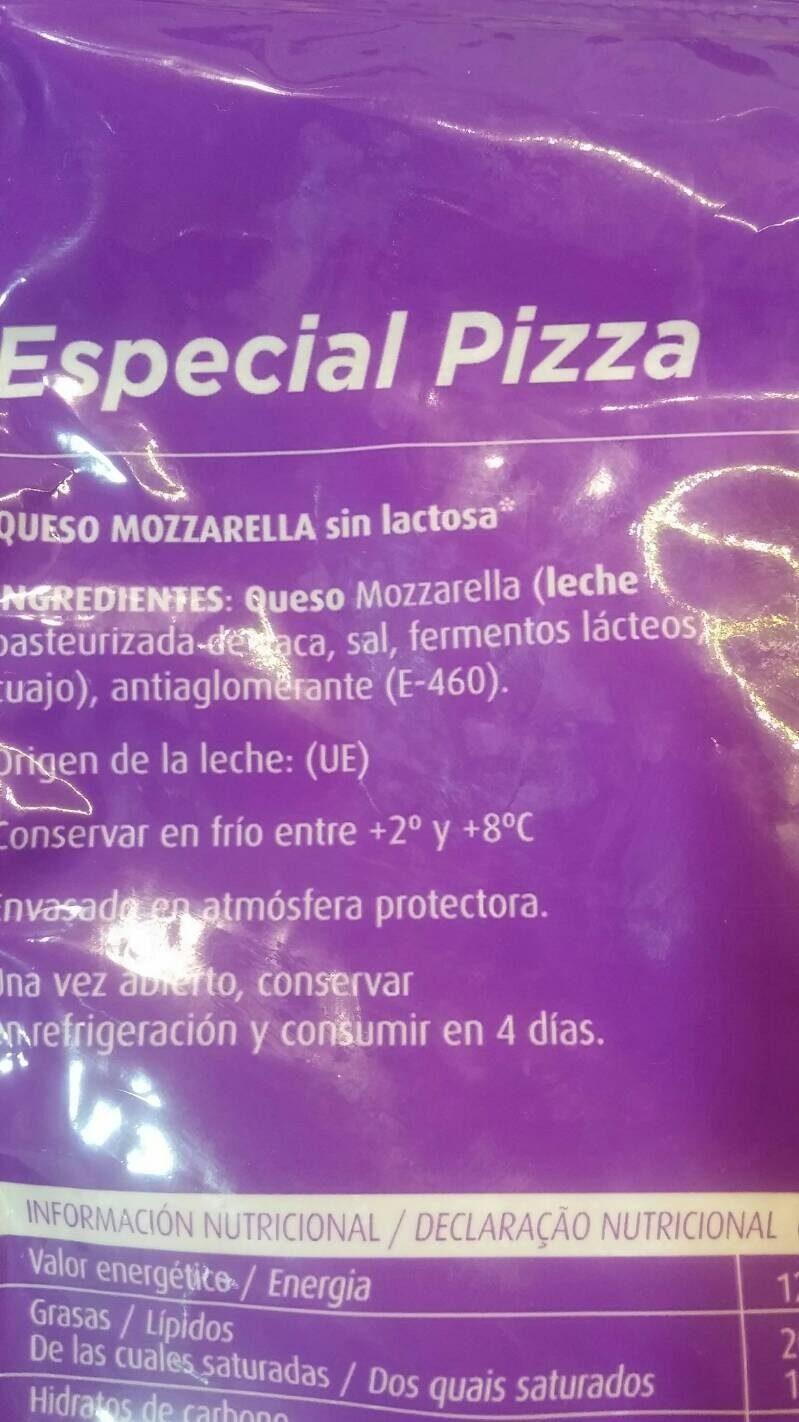 Mozzarella sin lactosa - Ingrédients - es
