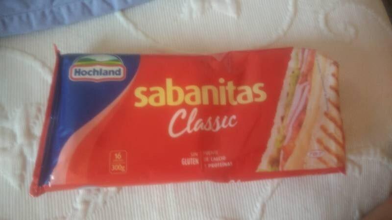 Sabanitas classic queso fundido lonchas sin gluten - Producte
