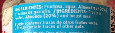 Crema de almendras con fructosa - Ingrédients - fr