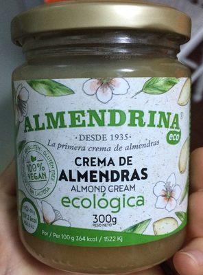 Crema de almendras ecológica - Produit - fr