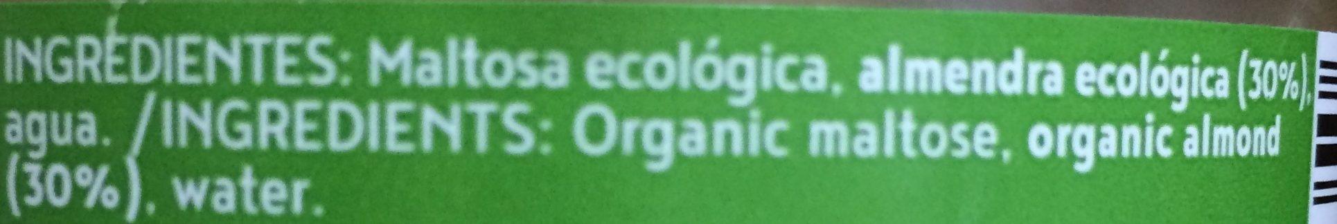 Crema de almendras ecológica - Ingredientes - es
