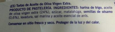 Tortas de aceite - Ingredients - es