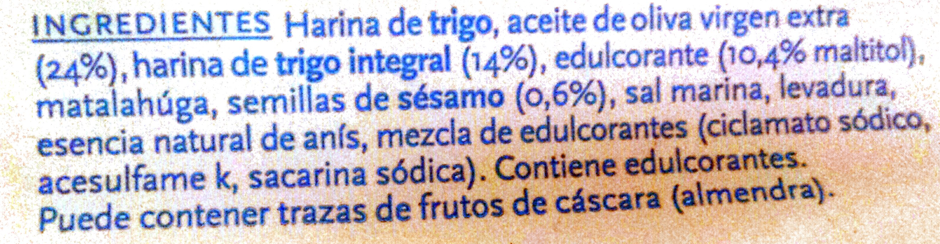 Tortas De Aceite - Sin Azucar - Ingredientes