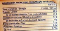 Tortas De Aceite - Sin Azucar - Información nutricional