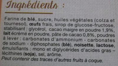Bijou Cacao - Ingrédients - fr