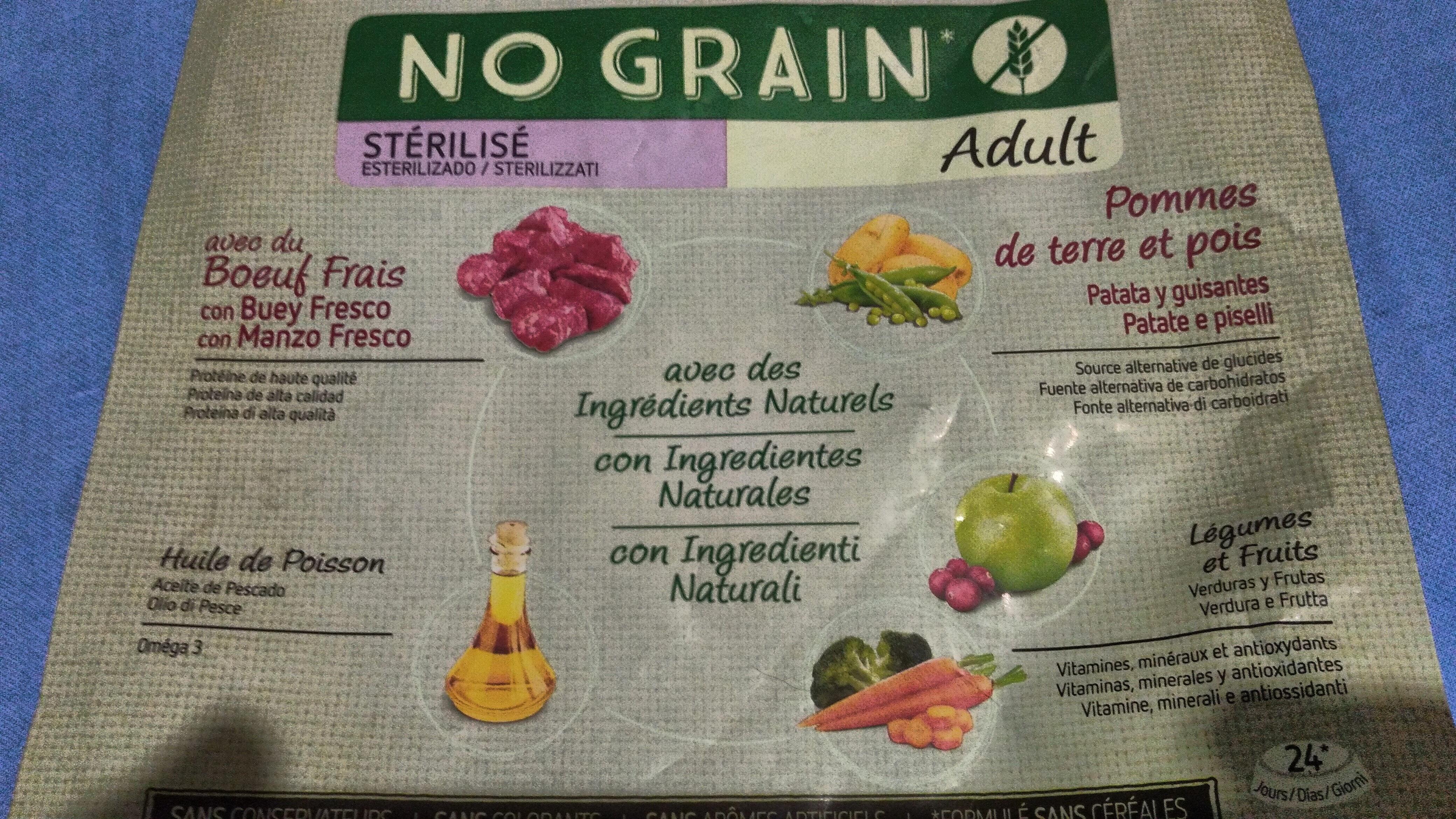 Ultima nature No grain, esterilizado, adulto - Ingrediënten - es