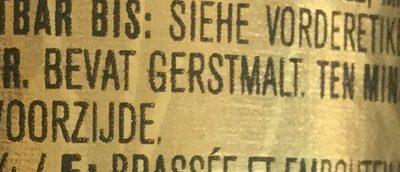 Bière blonde - Ingrediënten - nl