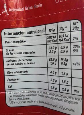 Munchitos original - Voedingswaarden - es