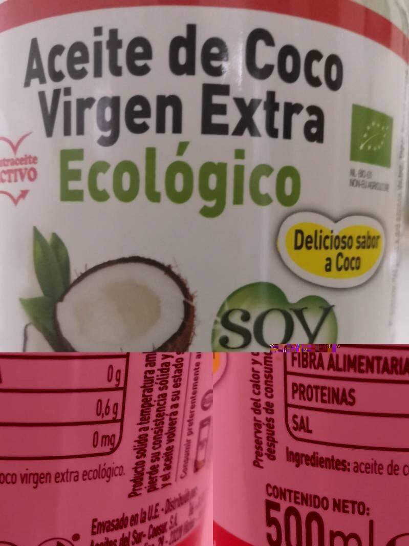 Aceite de coco virgen extra ecológico - Voedingswaarden - es
