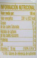 Aceite de oliva virgen extra Gourmet 100% hojiblanca Nueva Cosecha botella 500 ml - Voedingswaarden - fr