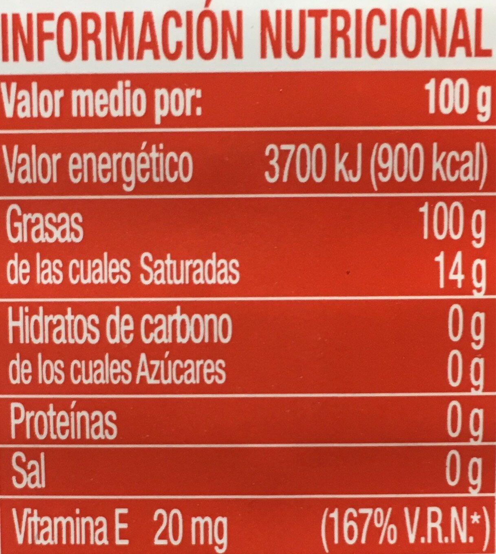 Aceite de oliva suave 0,4º bidón 3 l - Voedingswaarden - es