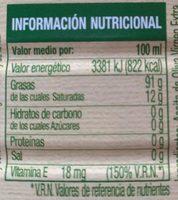 Aceite de oliva virgen extra bidón 3 l - Ingrediënten - fr