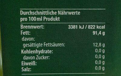 Natives Olivenöl Extra - Voedingswaarden - de