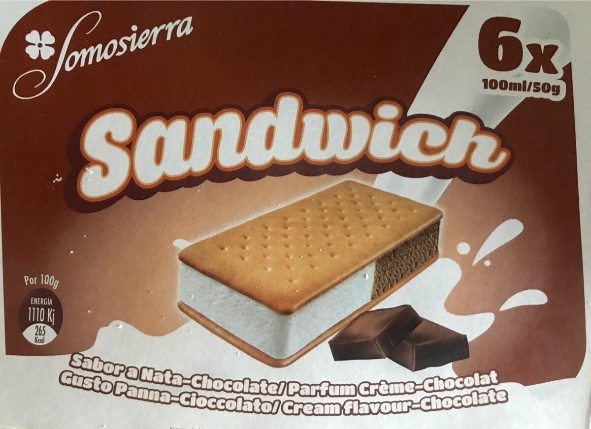 Sandwich sabor nata chocolate - Producte - es