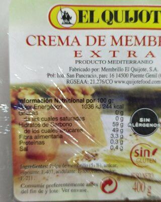 Crema de membrillo extra - Nährwertangaben - es