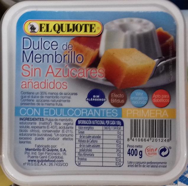 Dulce de membrillo sin azúcares añadidos tarrina - Producto - es