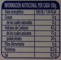 Dulce de membrillo sin azúcares añadidos tarrina - Información nutricional - es