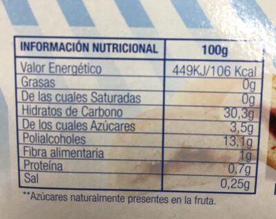 Mermelada fresa diet - Nährwertangaben