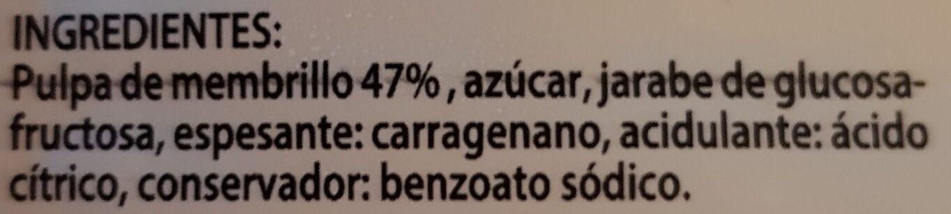 Dulce de membrillo primera - Ingredientes - es